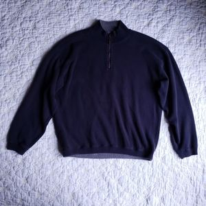 Tommy Bahama Half Zip Cotton Pullover Sweater